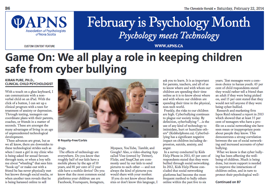 February Is Psychology Month Dr Pure And Associates